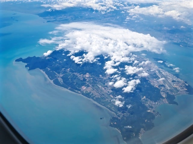 Plane views: Penang Island