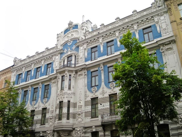 Arguably Eisenstein's most famous design: this building is located at no. 10, Elizabetes Street.