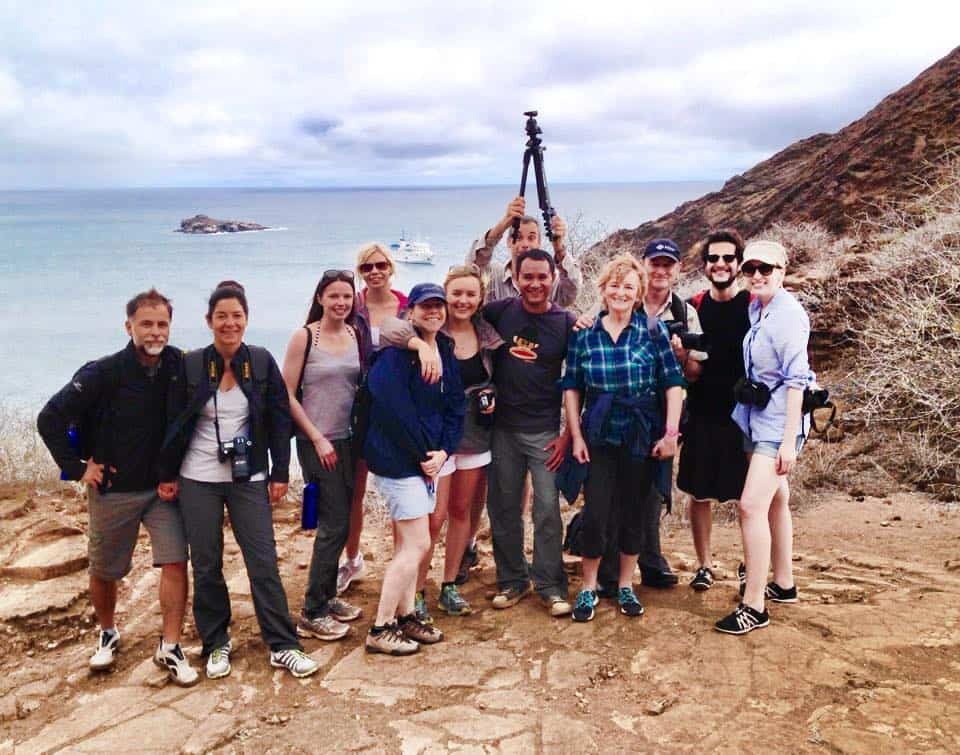 With my friends on the Galapagos Islands. What an awesome trip!
