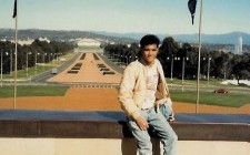 My first ever solo trip, at age 14, from Sydney to Melbourne. This photo was taken in Canberra.