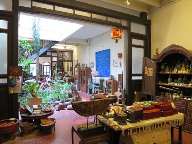 This antique shop in Heeren Street boasts a stunning, typical Peranakan interior.