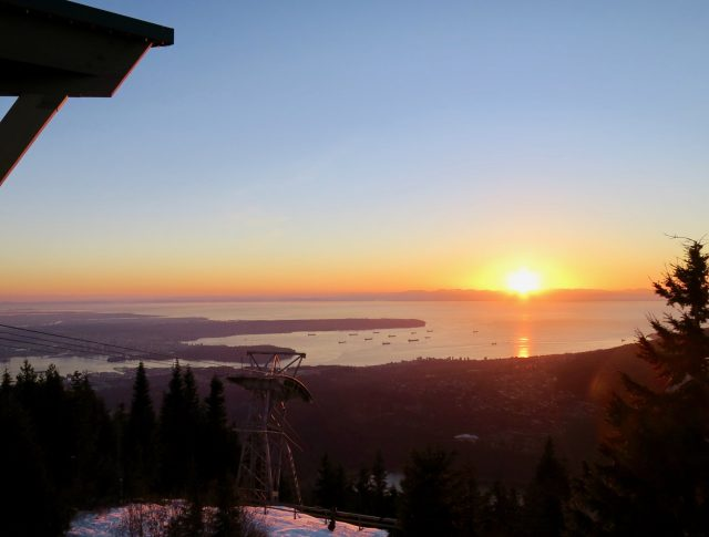 grouse mountain sunset photo