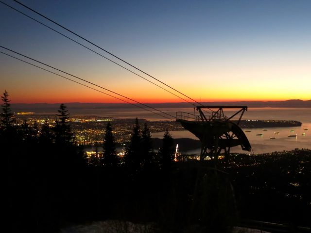 grouse mountain sunset view photo