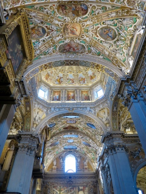 basilica-bergamo-frescoes-ceiling-photo