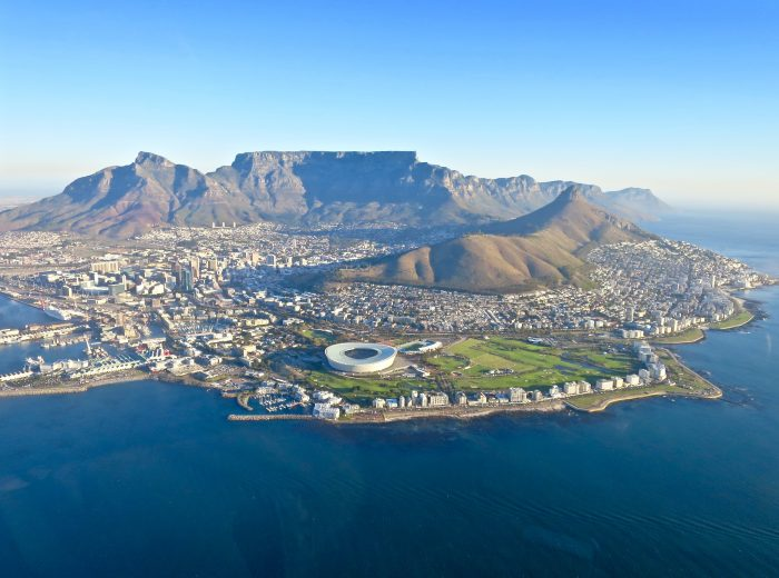 A helicopter tour of Cape Town