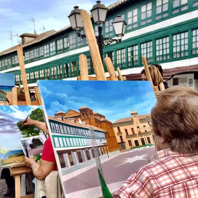 artist-plaza-mayor-almagro-photo