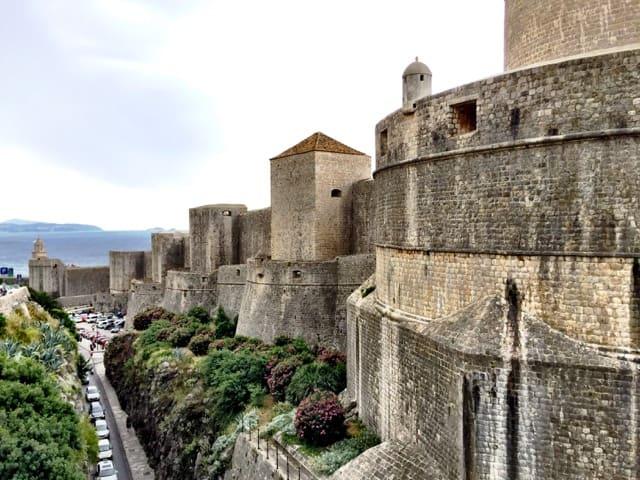 The impressive walls of Dubrovnik.