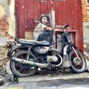 Nostalgic street art in George Town