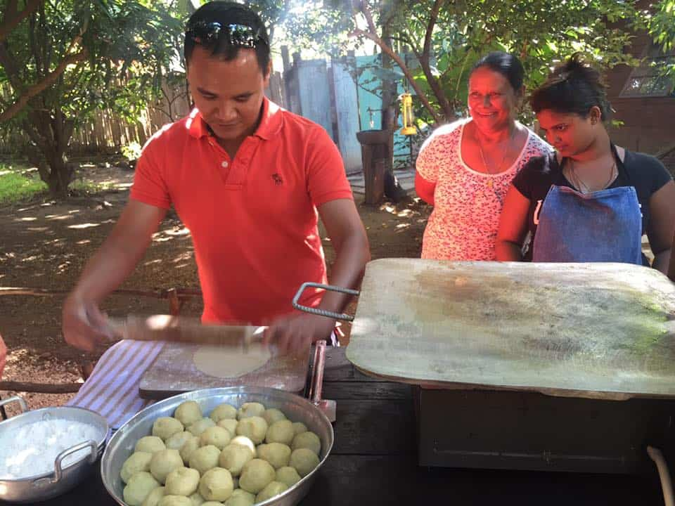 Me making farata with the locals at Otentic. Guess I was doing a good job, judging by that big smile! (image courtesy of Shivya Nath).