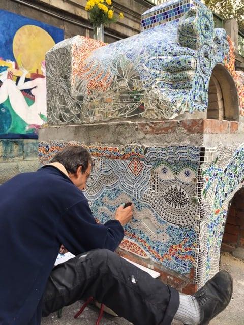 mosaic-artist-danube-canal-vienna-photo