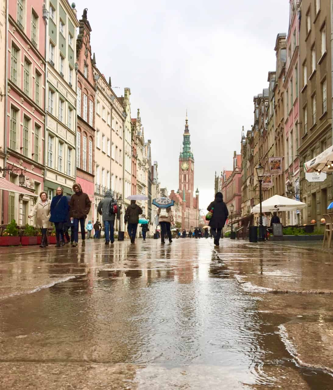 gdansk-dlugi-targ-rain-photo