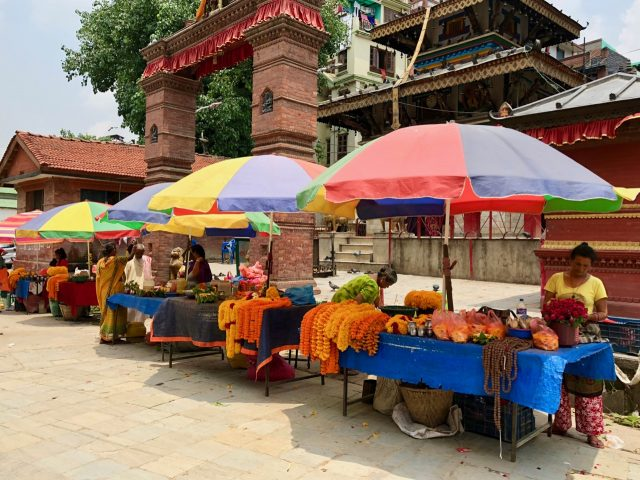 colorful-garlands-hindu-temple-kathmandu-photo