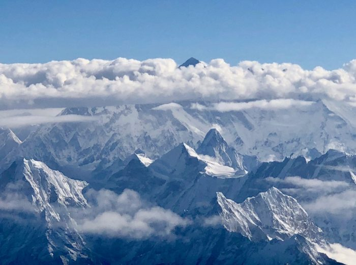 Plane views: Himalayas and Mount Everest