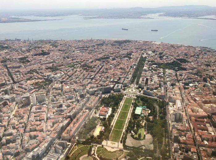 Plane views: Lisbon
