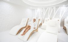 The salt room resembles a space-age salt cave! Image courtesy of Vytautas Mineral Spa.