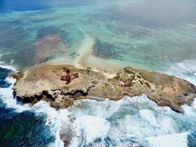 mauritius lighthouse lagoon