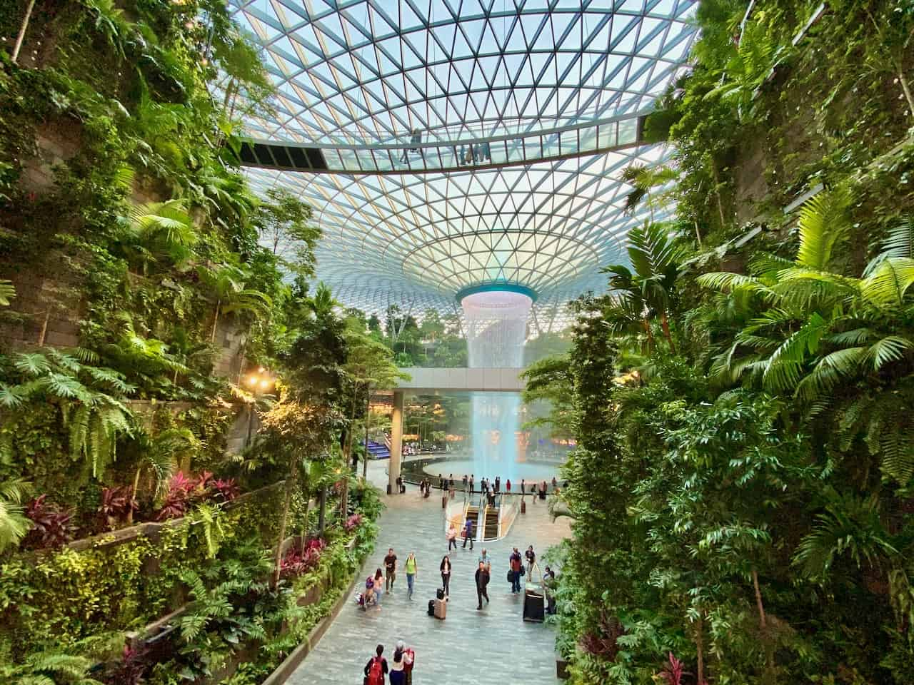 The spectacular Jewel at Changi Airport