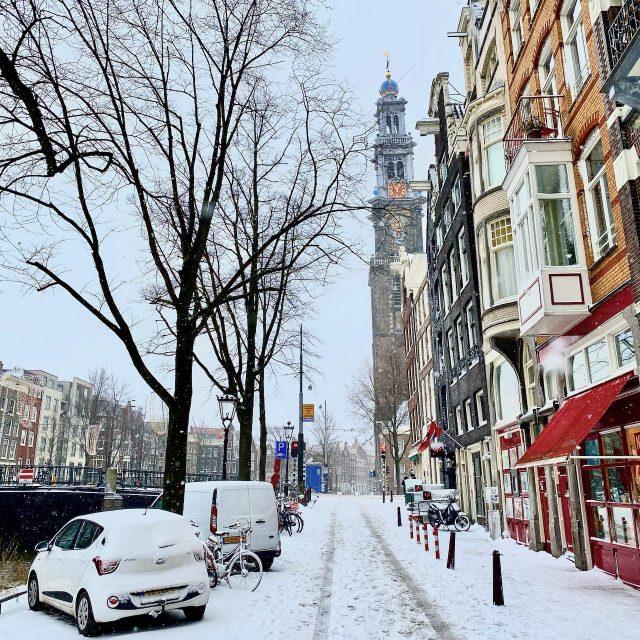 Amsterdam winter snow