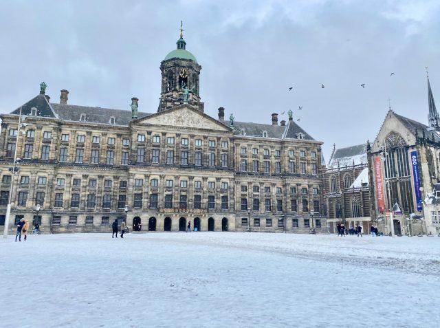 Amsterdam snow dam square