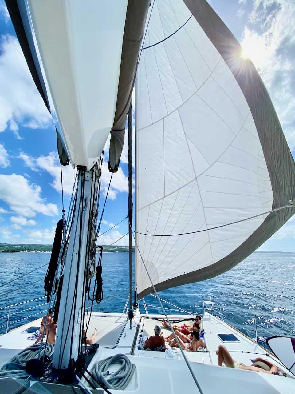barbados catamaran sailboat